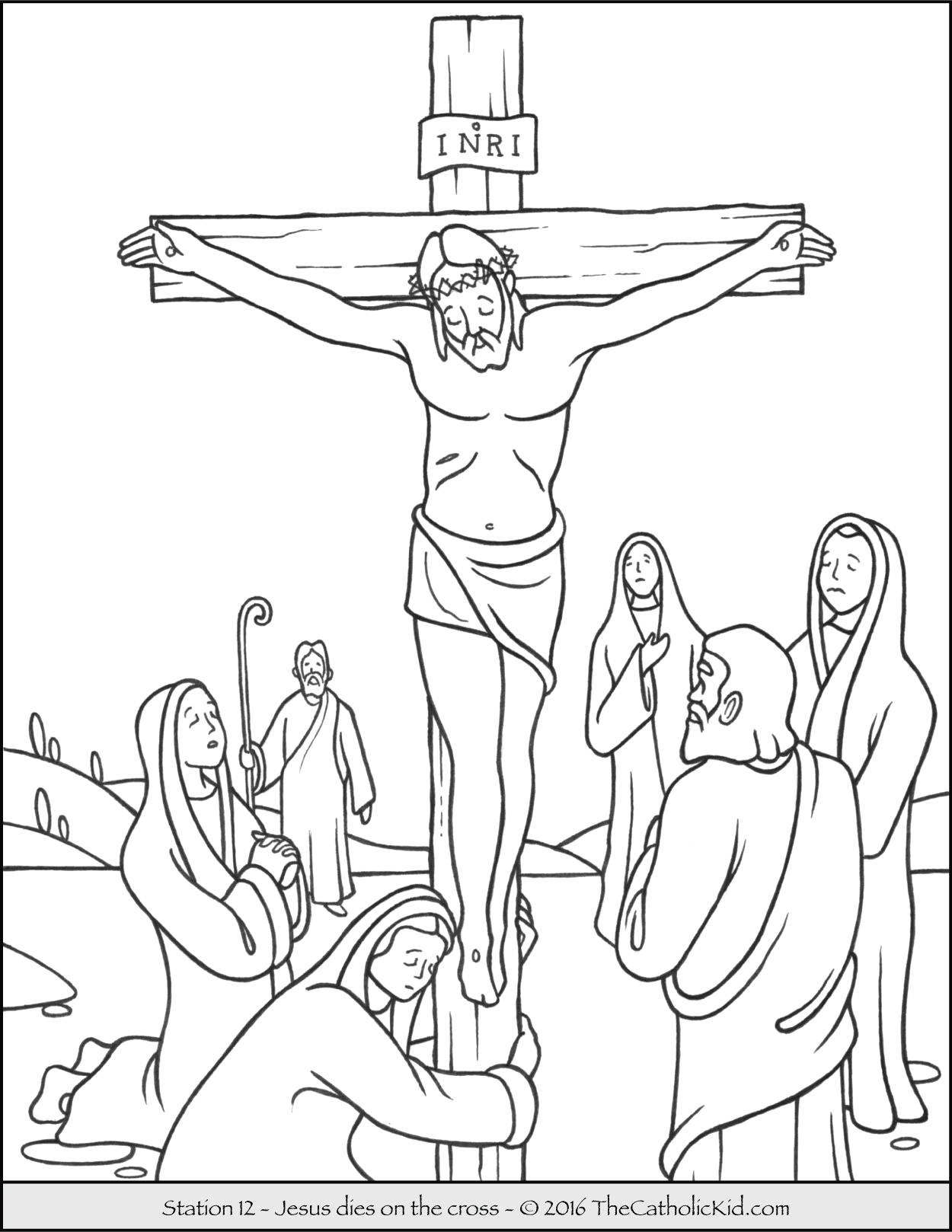 Jesus Dies On the Cross Coloring Pages Stations Of the Cross Coloring Pages 12 Jesus S On