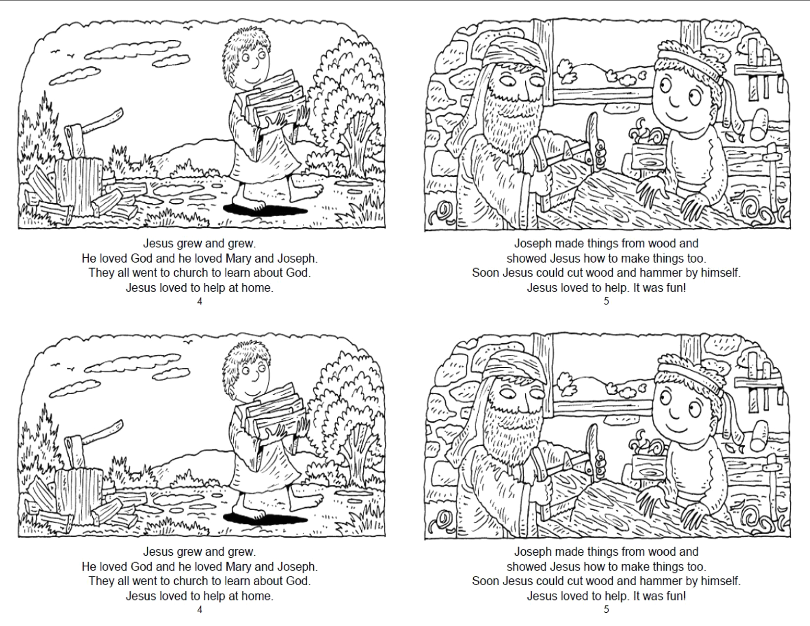 Jesus Grew In Wisdom and Stature Coloring Page Pin On Sunday School
