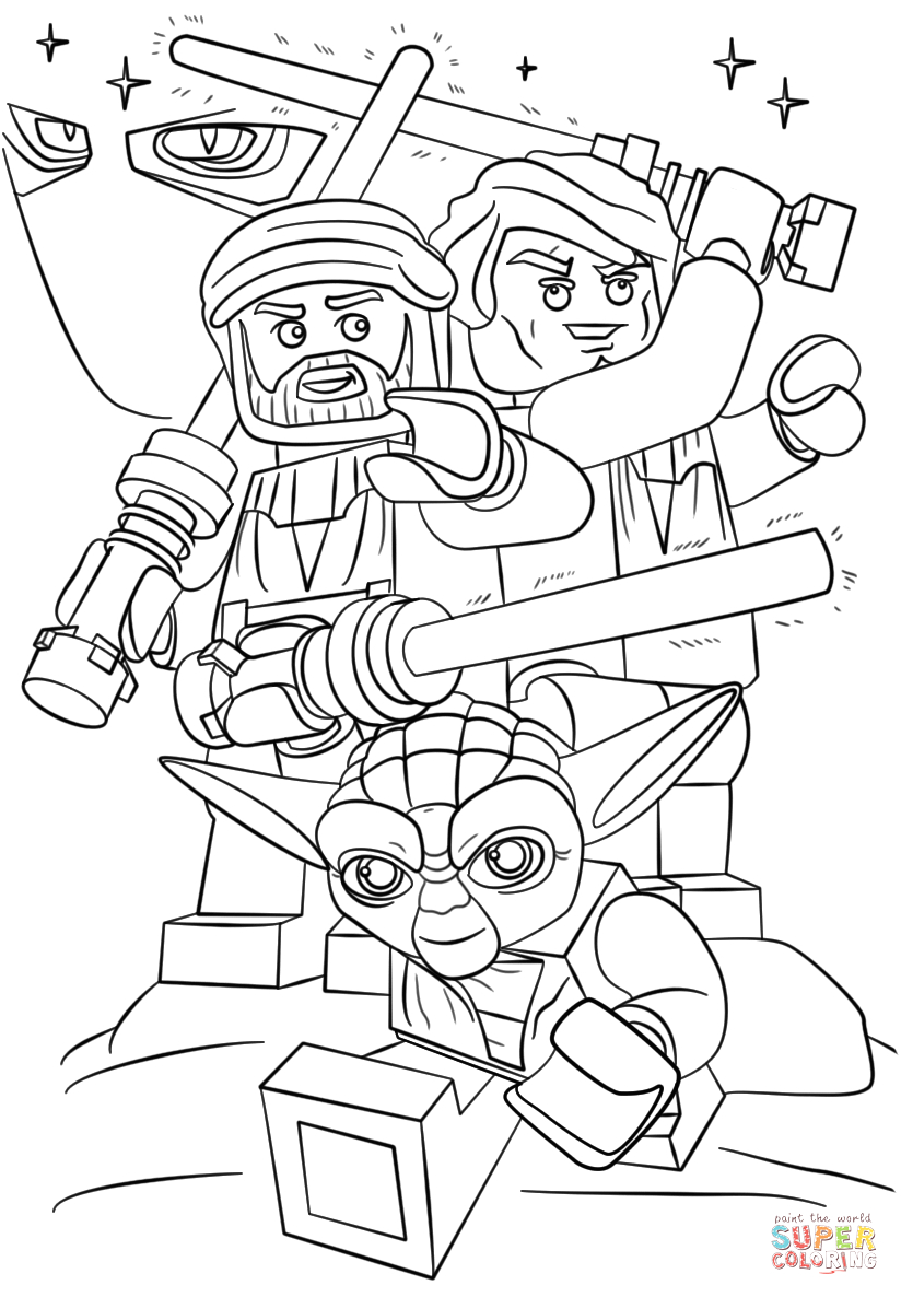 Lego Star Wars Coloring Pages to Print Lego Star Wars Clone Wars Coloring Page