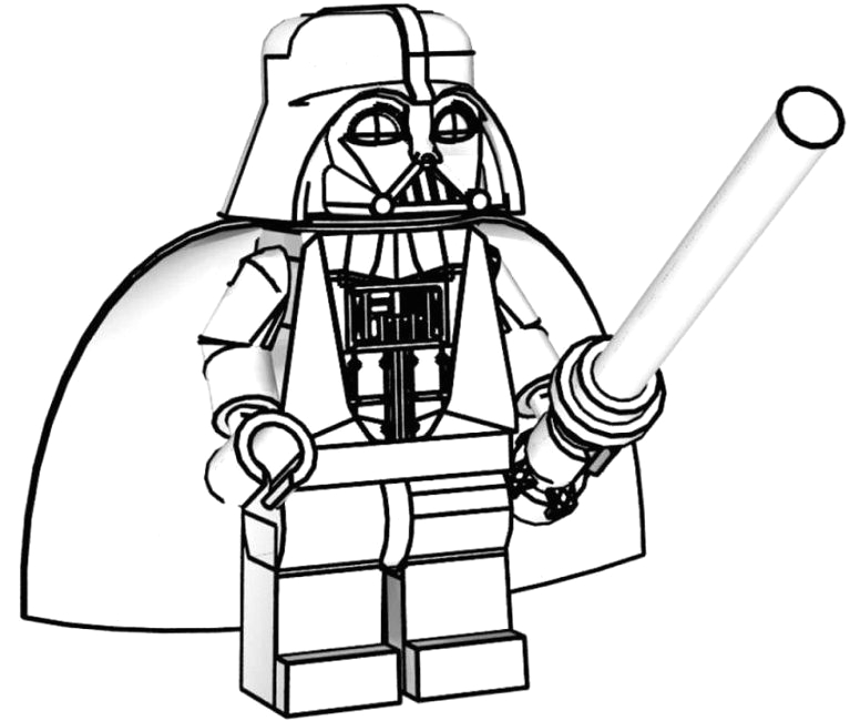 Lego Star Wars Darth Vader Coloring Pages Lego Darth Vader Coloring Pages with Images