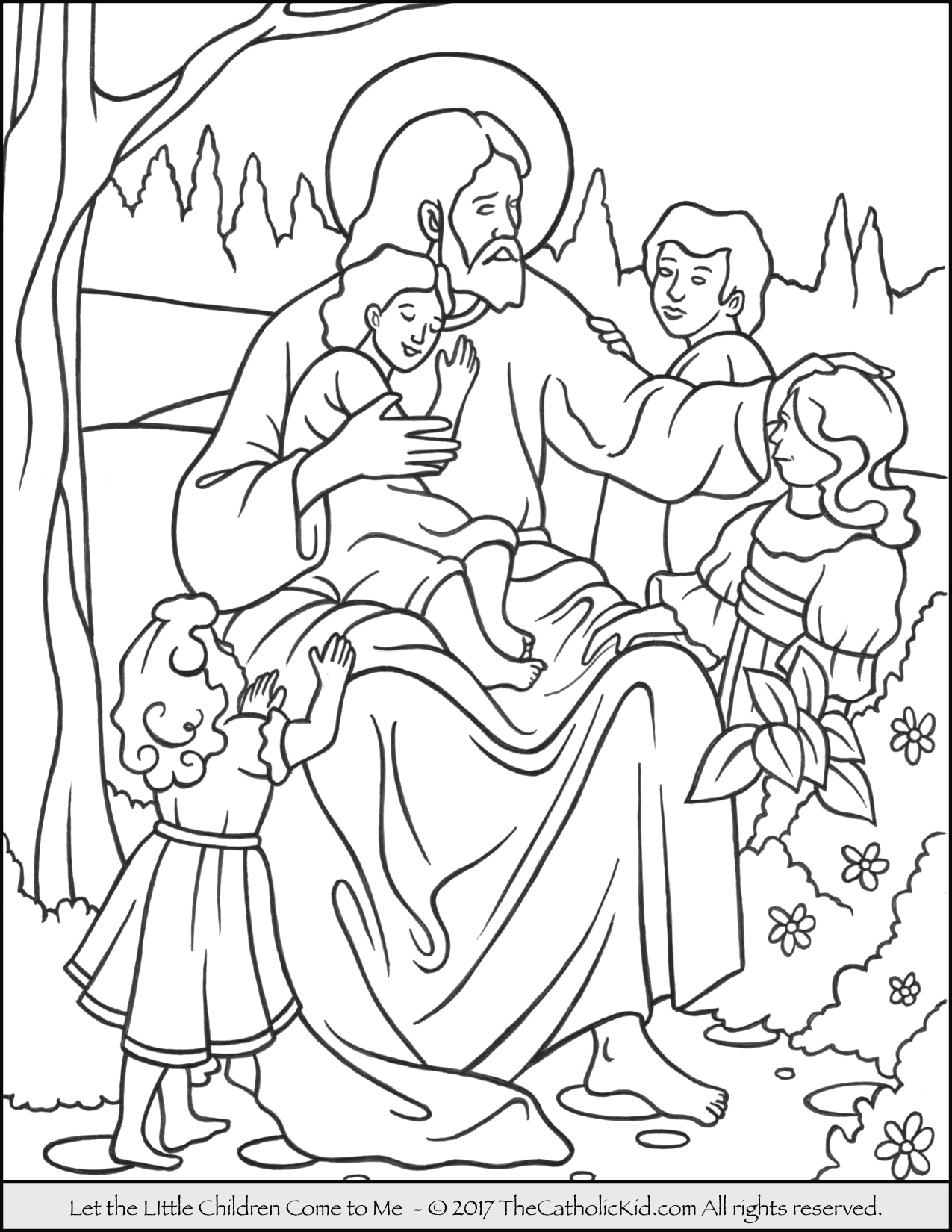 Let the Little Children Come to Me Coloring Page Jesus Let the Little Children E to Me Coloring Page