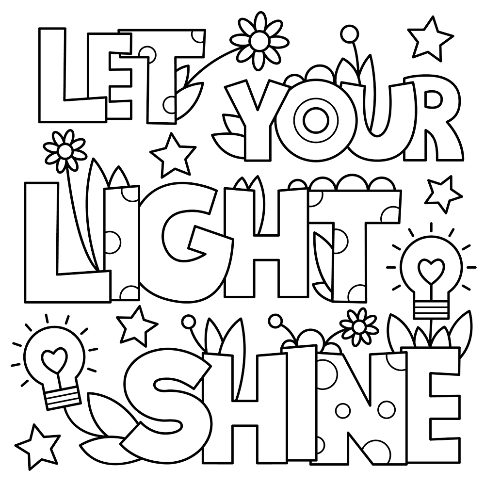 Let Your Light so Shine Coloring Page Let Your Light Shine Got Coloring Pages
