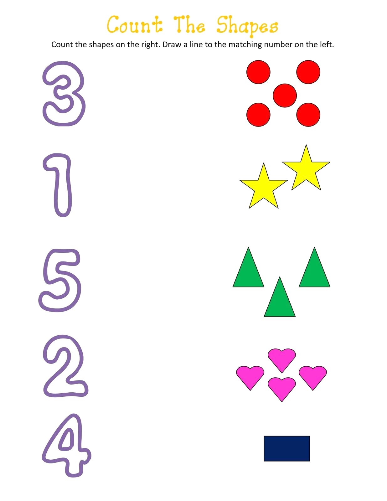 Letters Numbers Colors and Shapes Activity Pages Shapes and Numbers Worksheets for Kids