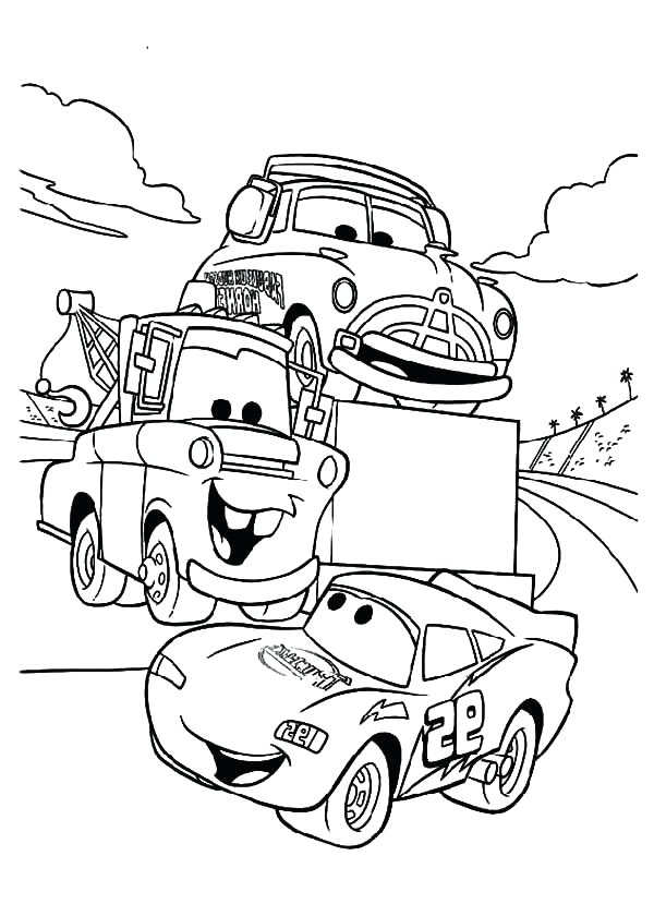 Lightning Mcqueen and Mater Coloring Pages to Print Lightning Mcqueen and Mater Coloring Pages at Getcolorings