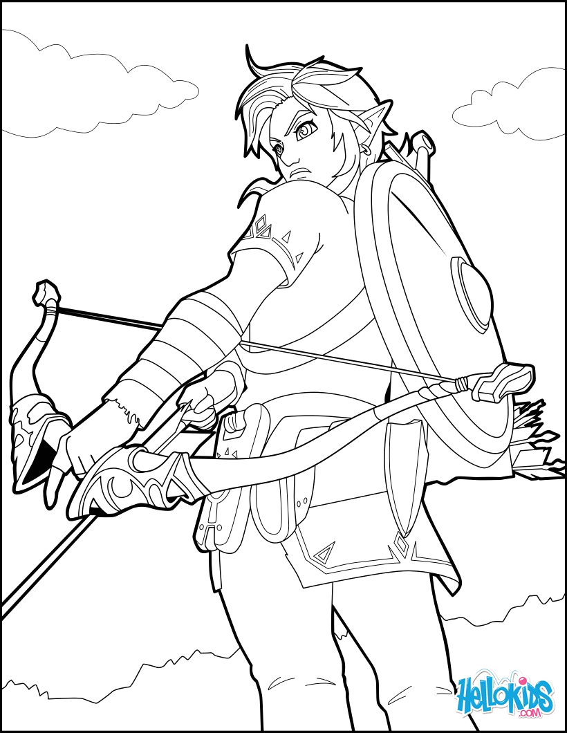 Link Breath Of the Wild Coloring Pages Link Breath Of the Wild Coloring Pages Hellokids