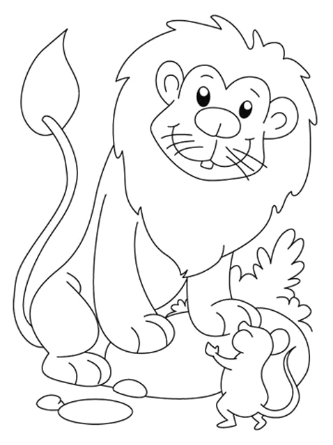 Lion and the Mouse Story Coloring Pages Kids Page Lion and the Mouse Story Coloring Pages 3
