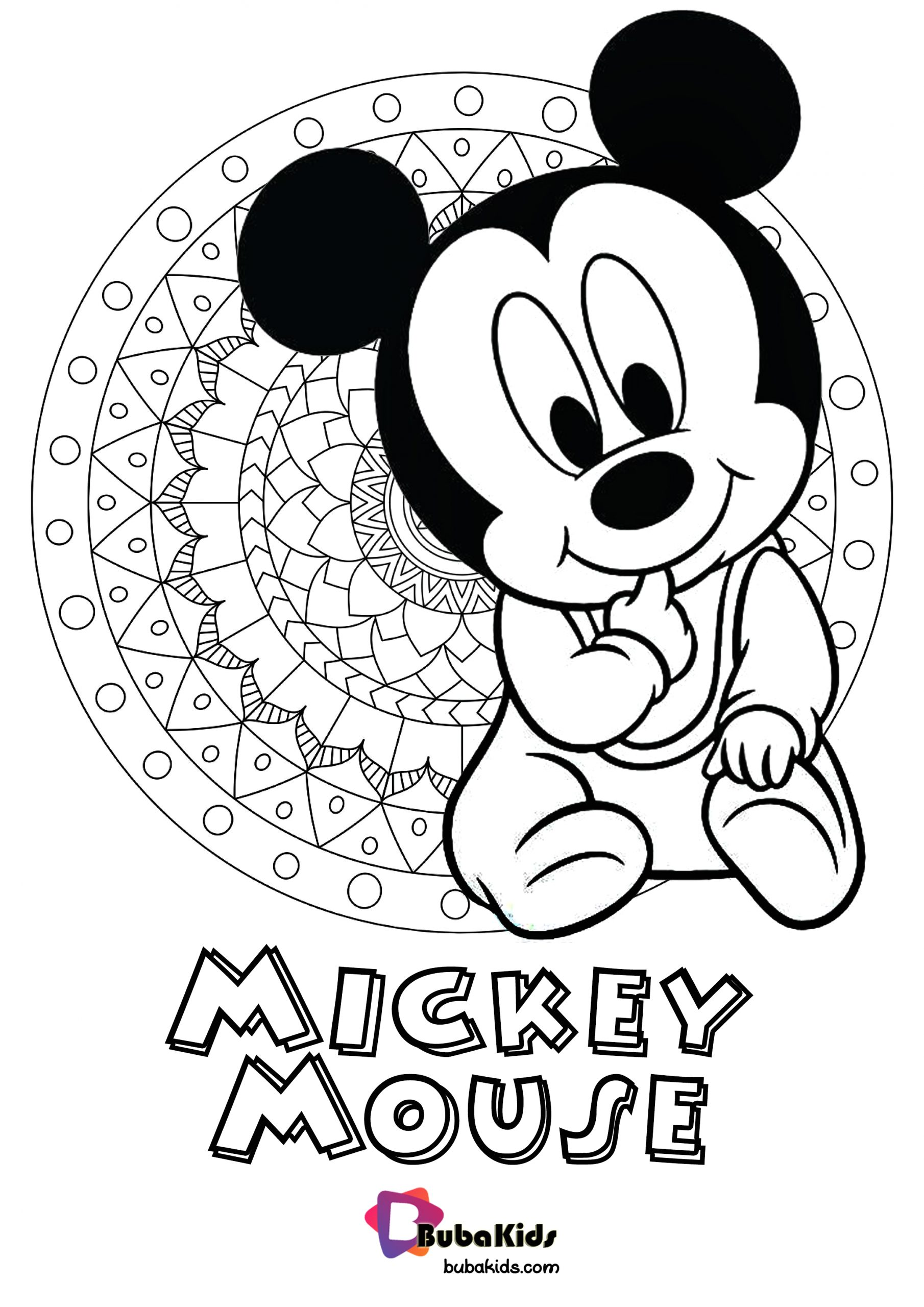 cute baby mickey mouse coloring pages printable free