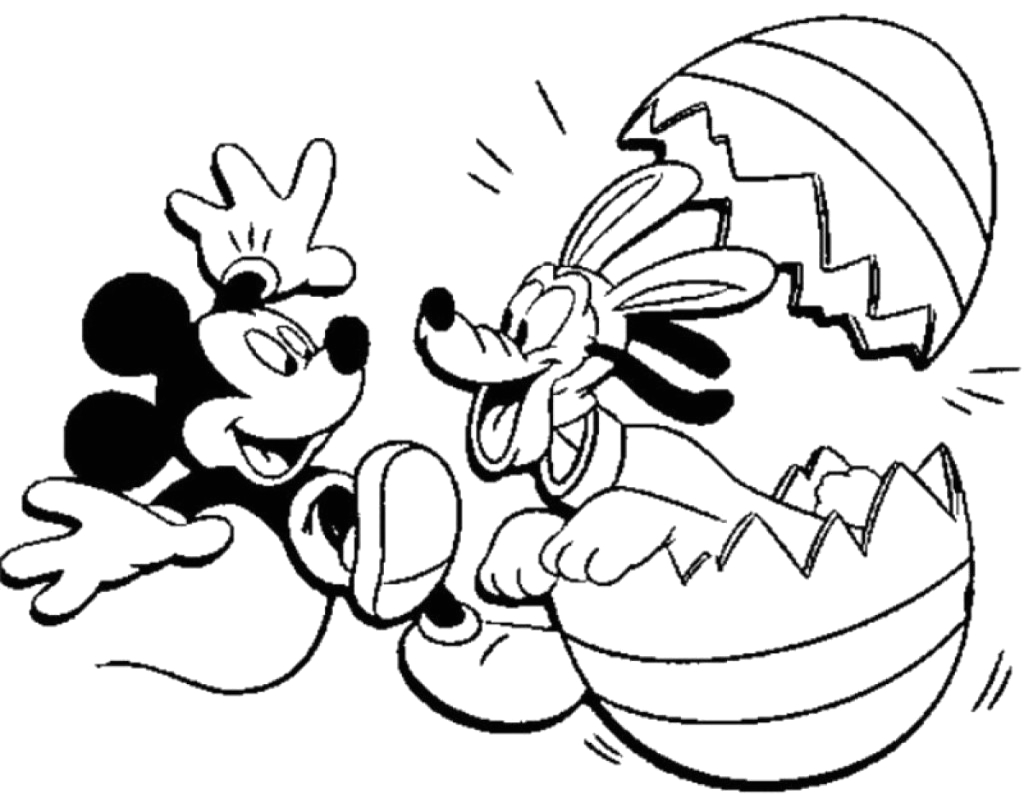excellent mickey mouse easter coloring pages