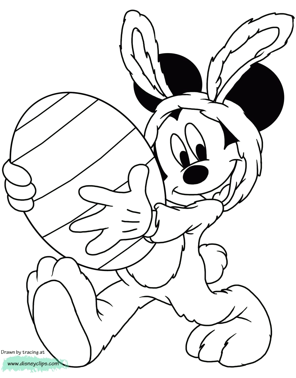 Mickey Mouse Easter Coloring Pages to Print Mickey Mouse Easter Coloring Pages to Print Coloring
