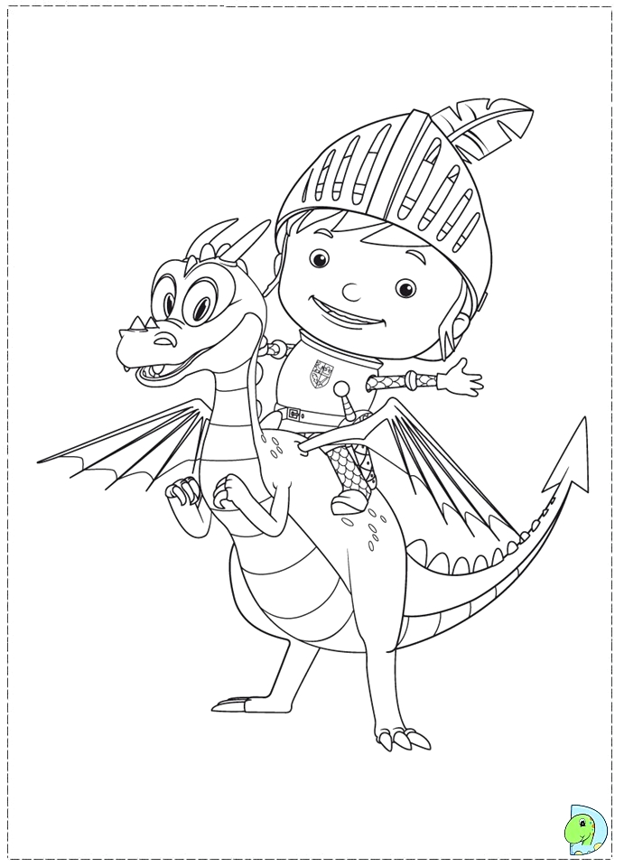 Mike the Knight Coloring Pages to Print Mike the Knight Coloring Page Dinokids