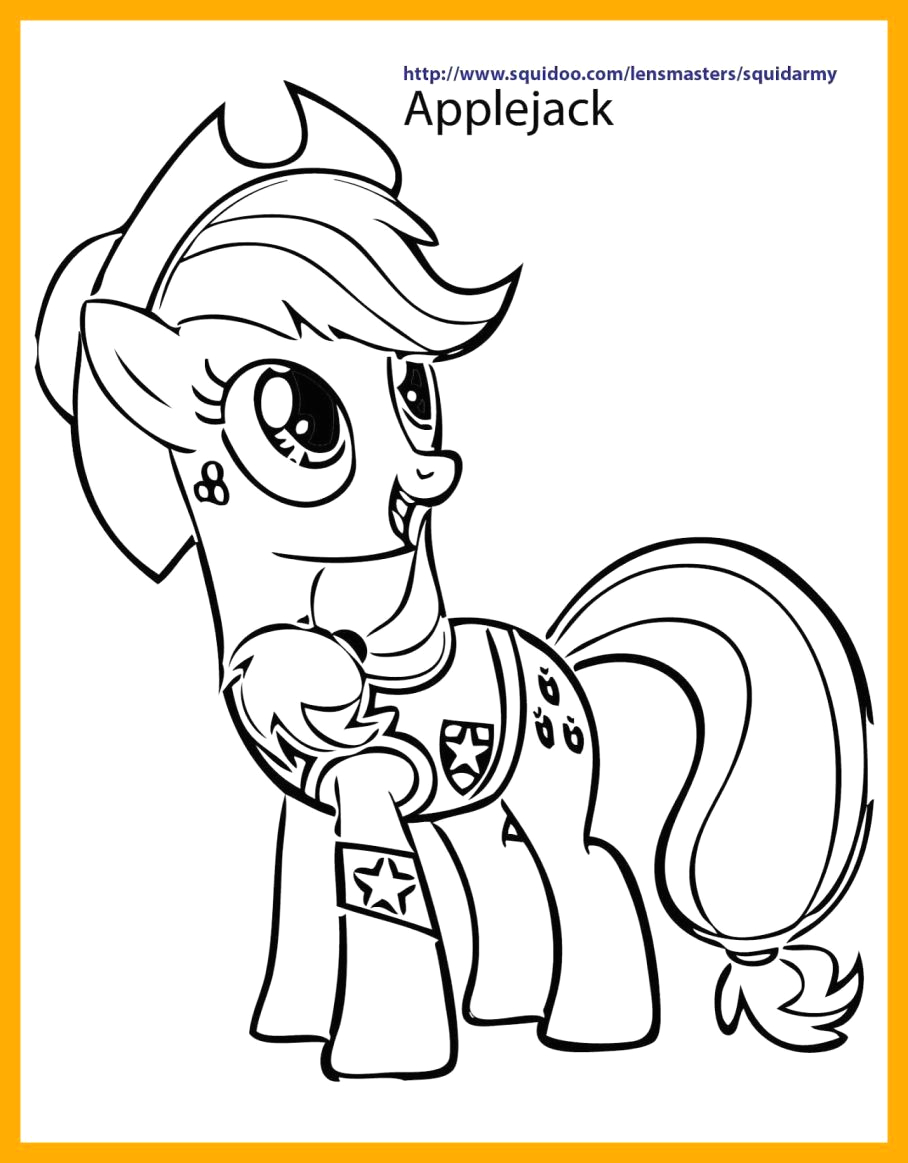 My Little Pony Friendship is Magic Coloring Pages Applejack My Little Pony Friendship is Magic Applejack Coloring