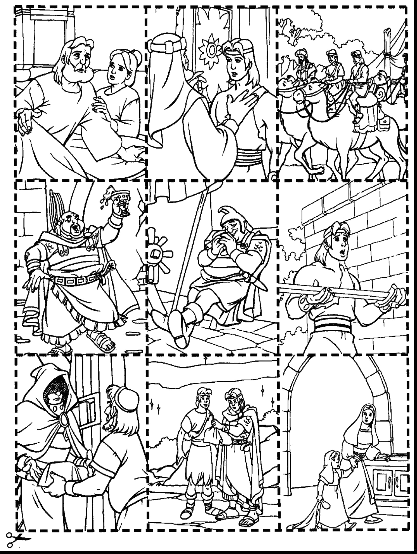 Nephi and the Brass Plates Coloring Page Good Lds Nephi and the Brass Plates Coloring Pages with