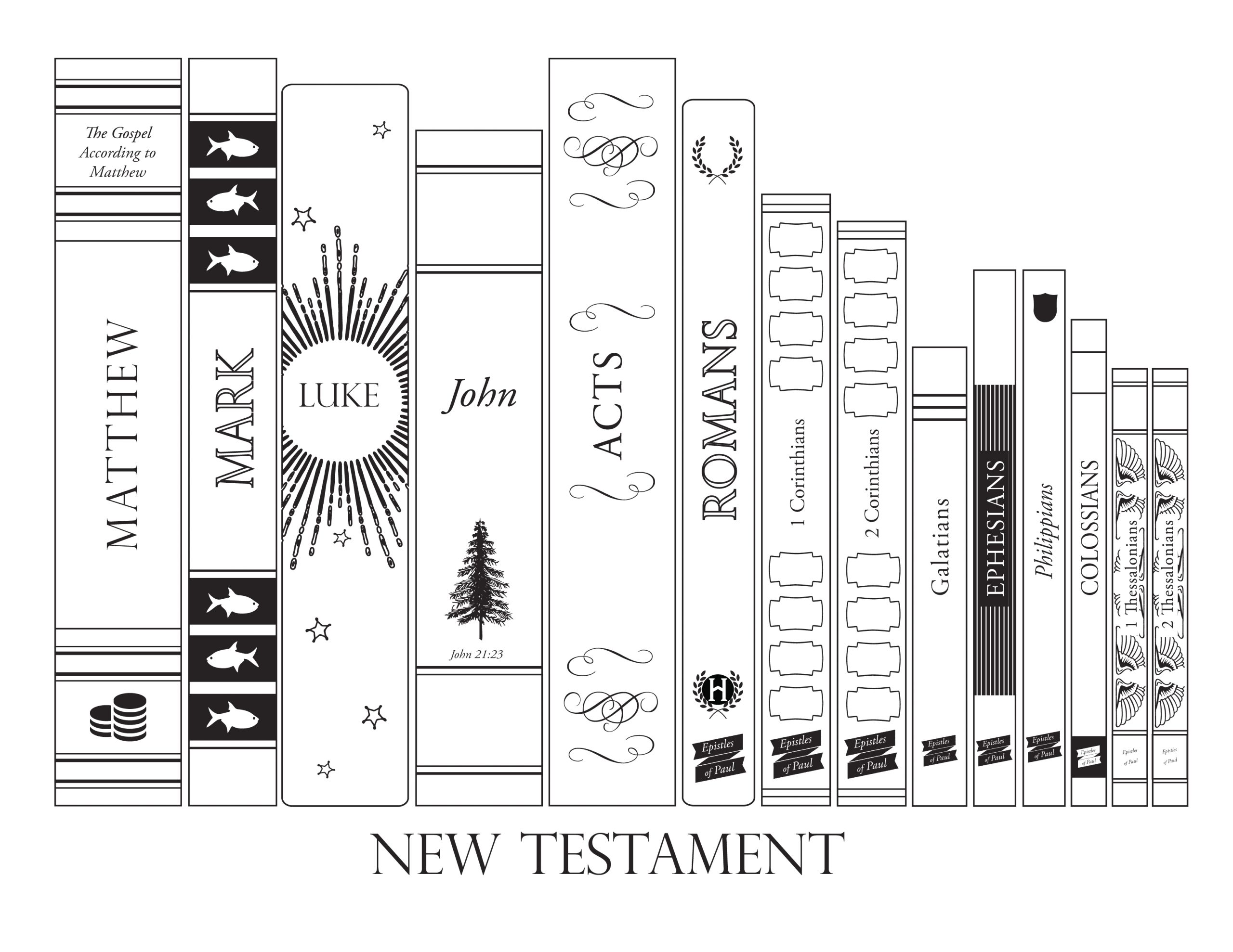 New Testament Books Of the Bible Coloring Pages New Testament Bookshelf – the Gospel Home