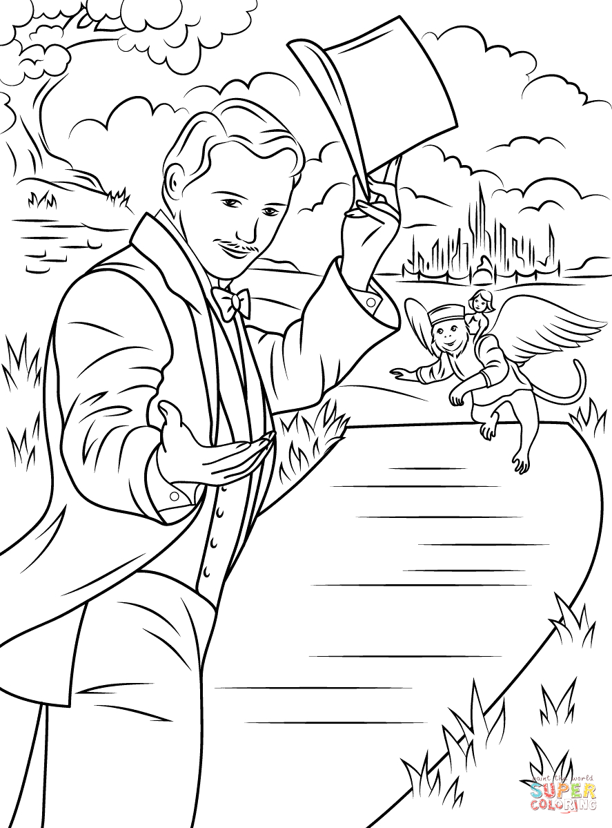 Oz the Great and Powerful Coloring Pages Oz the Great and Powerful Coloring Page