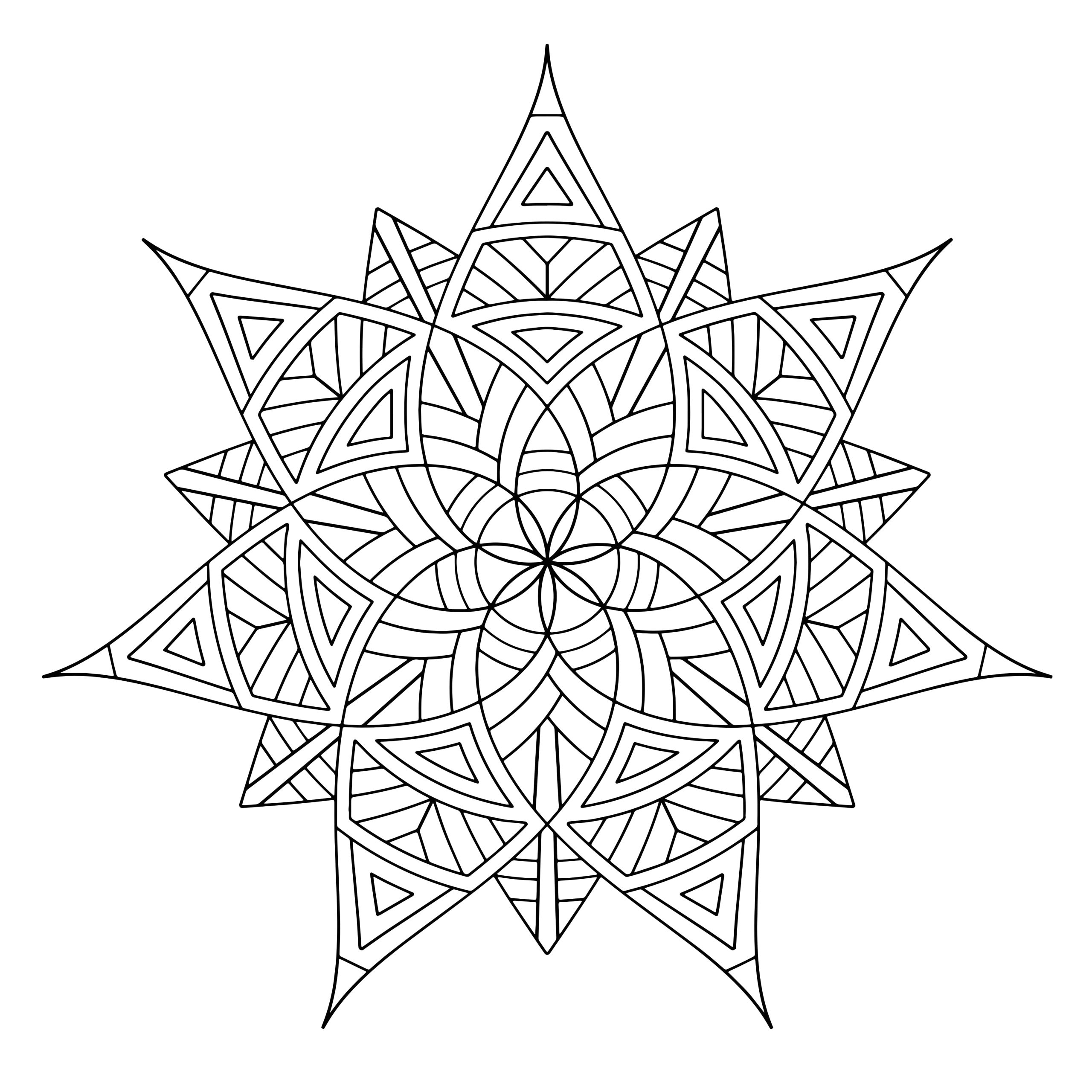 Pages to Print and Color for Adults Free Printable Geometric Coloring Pages for Adults