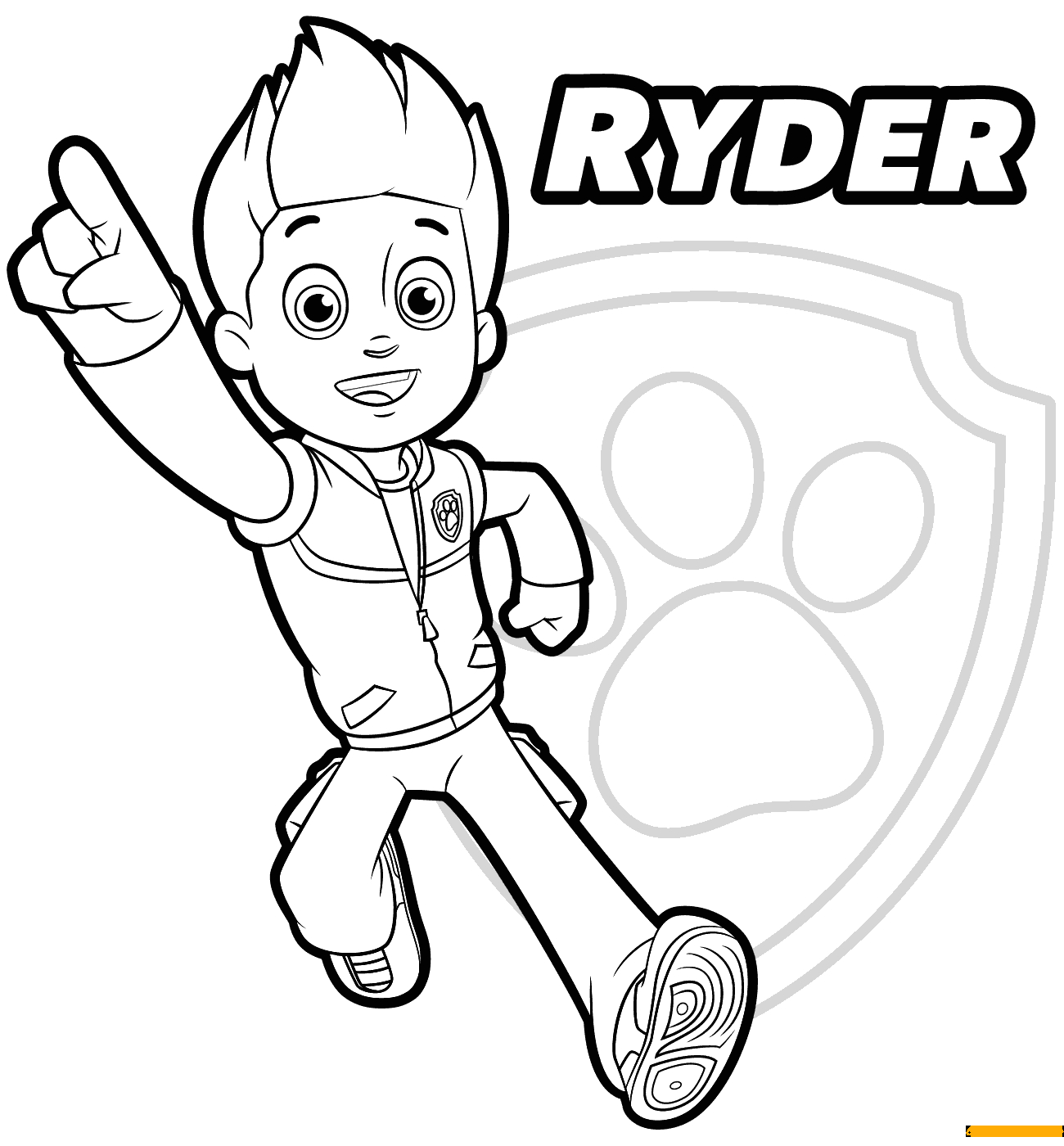 Paw Patrol Ryder Coloring Pages to Print Paw Patrol Ryder 1 Coloring Pages Cartoons Coloring