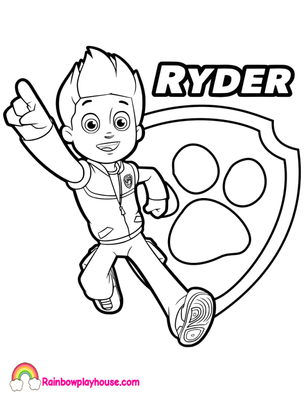 ryder coloring pages