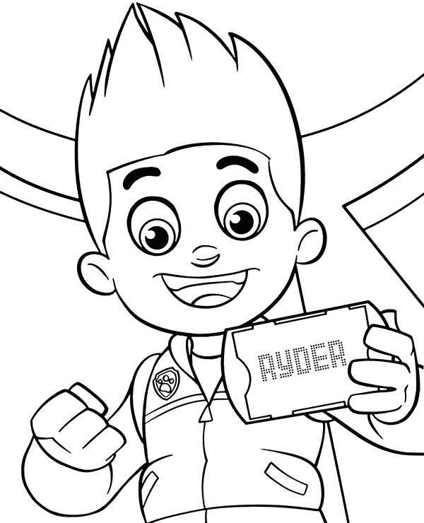 ryders portrait to color