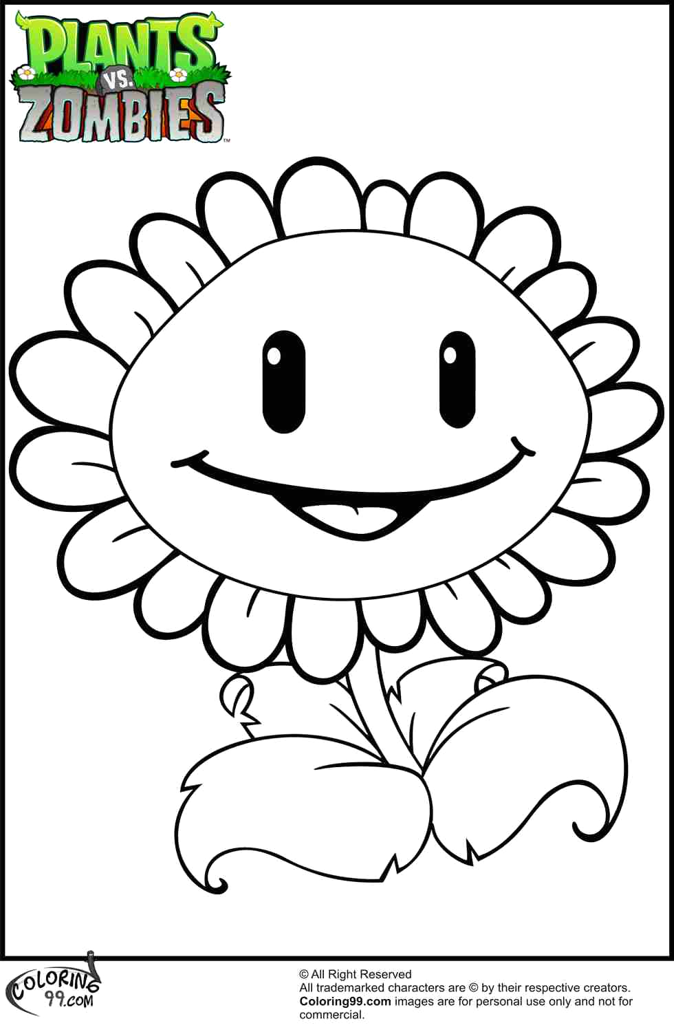 peashooter coloring pages