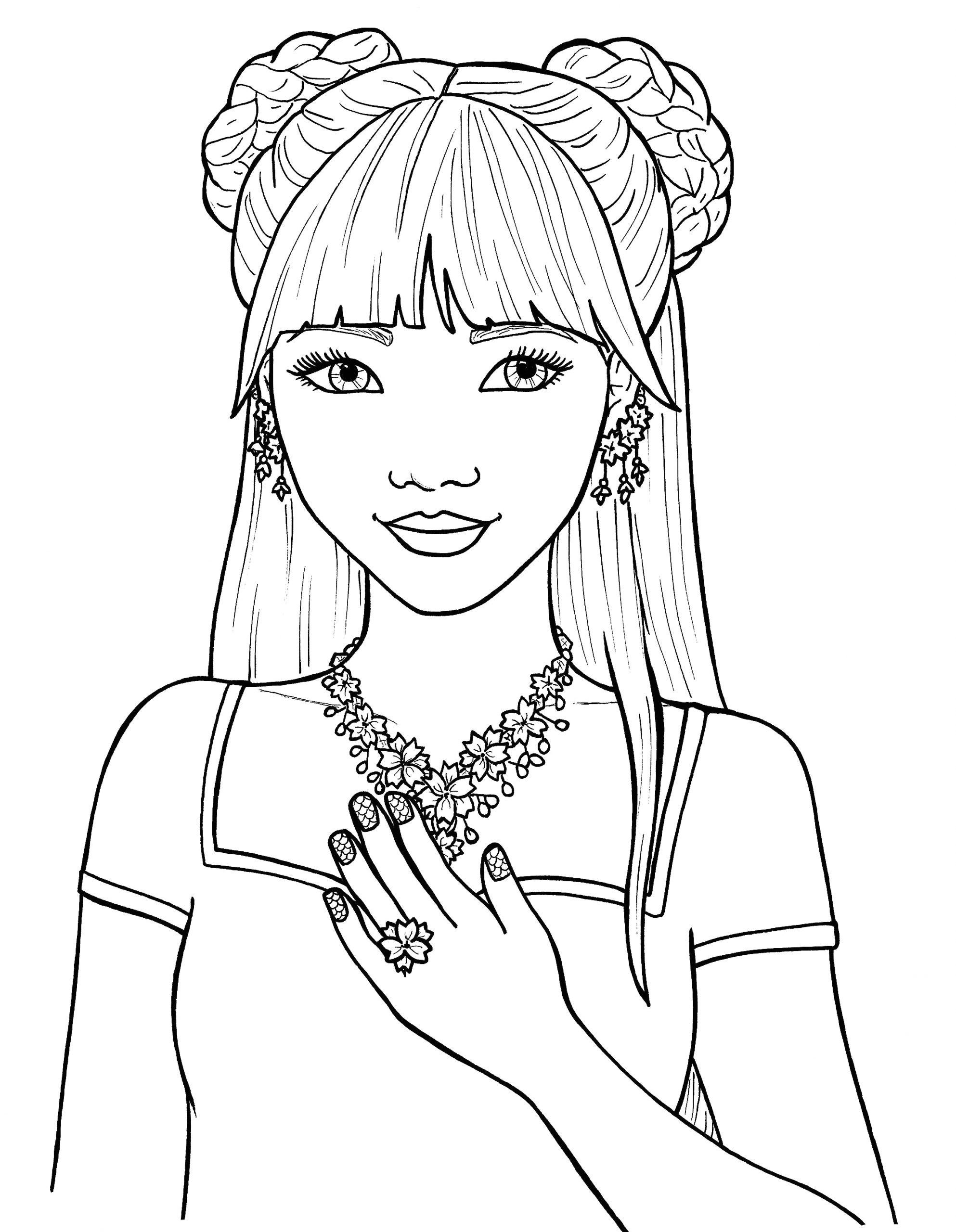Pretty Girl Coloring Pages for Teenage Girl Pretty Girls Coloring Pages Free