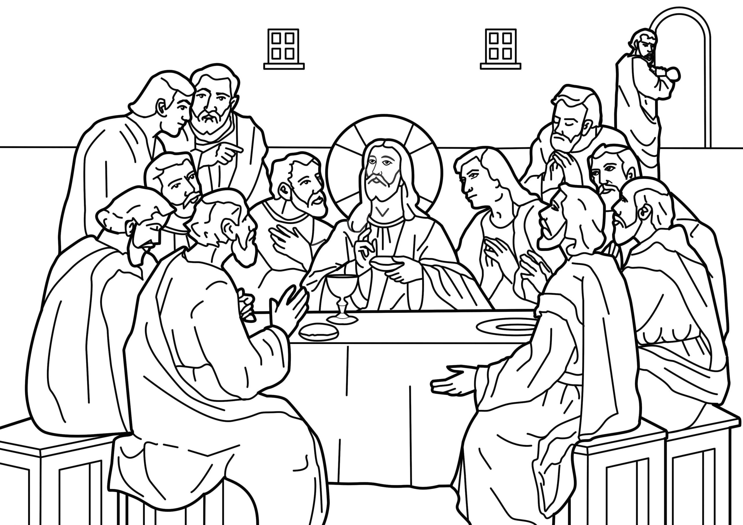Printable Coloring Page Of the Last Supper Garden Mary Dedicated to Our Blessed Mother the