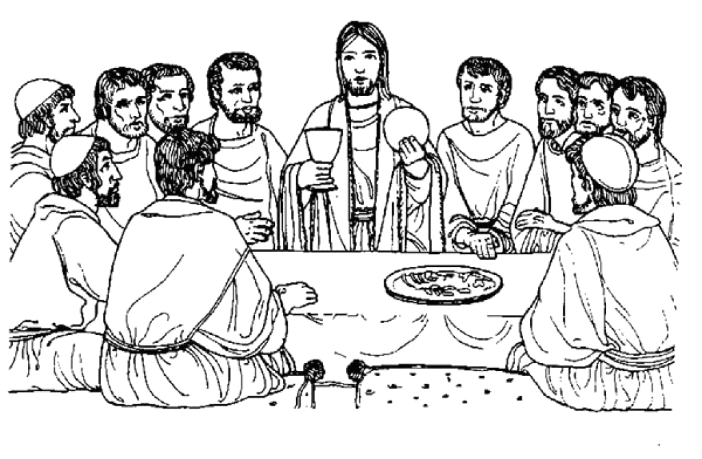 last supper coloring pages free