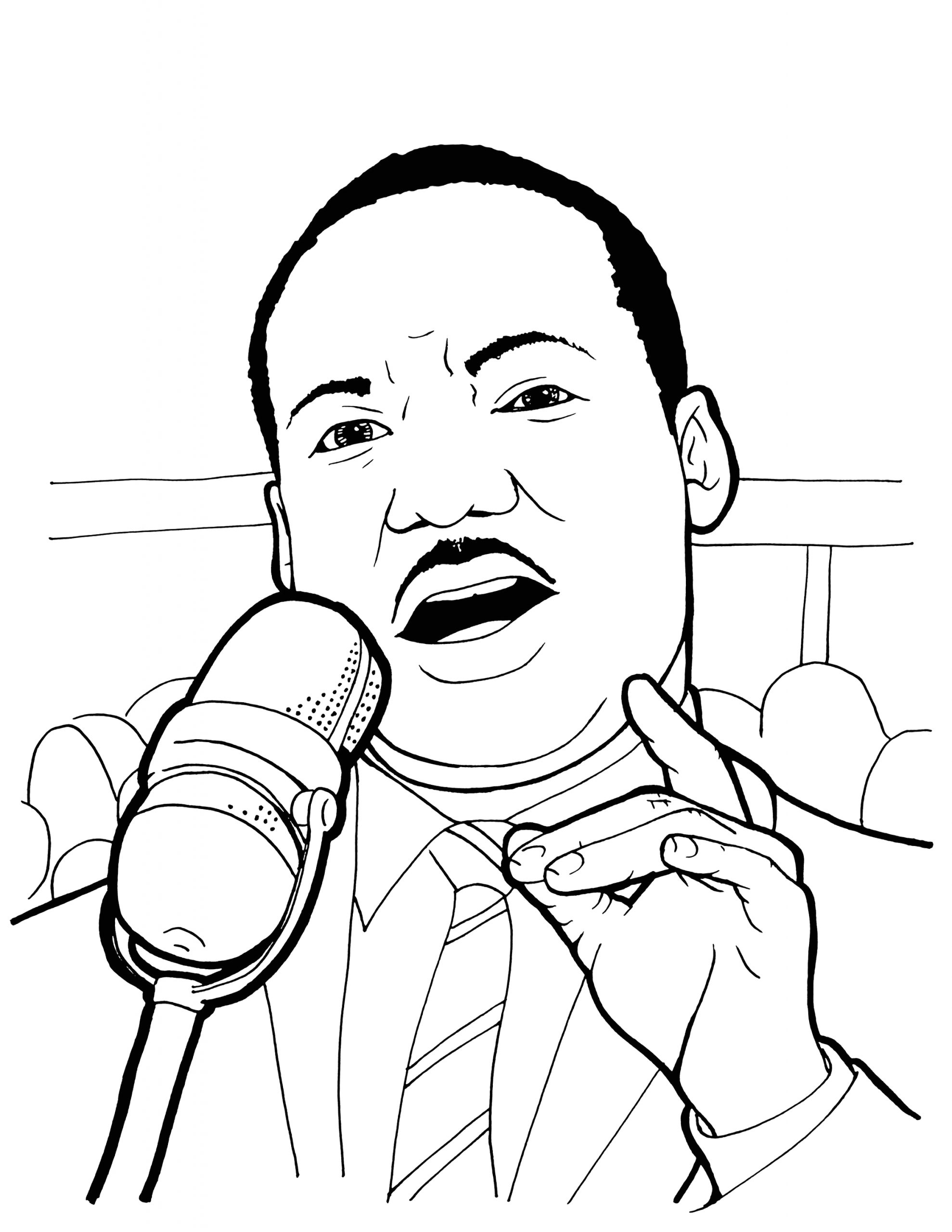 Printable Coloring Pages for Martin Luther King Martin Luther King Coloring Pages Printable at