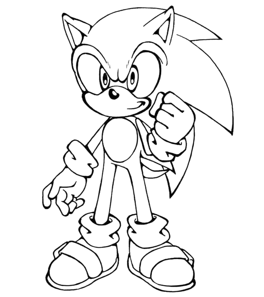 Sonic the Hedgehog Coloring Pages to Print Printable Template Printable sonic the Hedgehog Coloring Pages