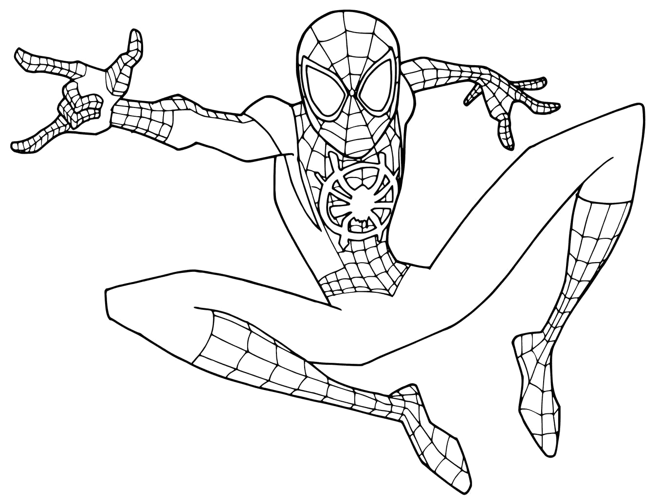 Spider Man Into Spider Verse Coloring Pages Spider Man Into the Spider Verse Coloring Pages Young