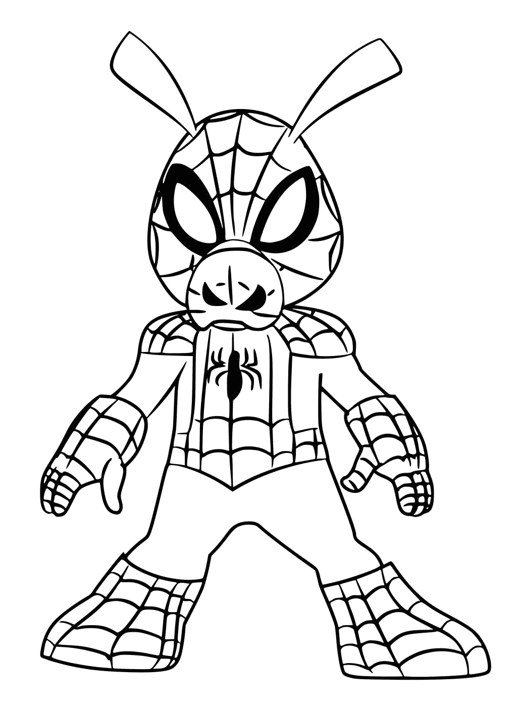 Spider Man Into the Spider Verse Coloring Pages Printable Spider Man Into the Spider Verse Coloring Pages Spider Ham