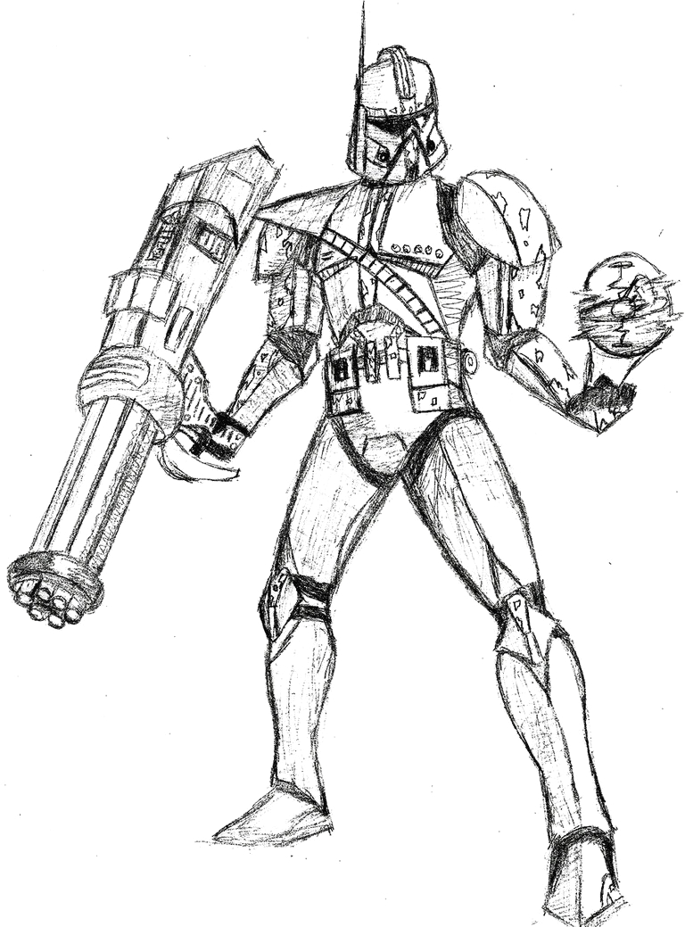 Star Wars the Clone Wars Coloring Pages Online Star Wars Clone Drawing at Getdrawings