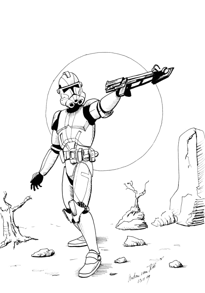 star wars clone trooper coloring pages