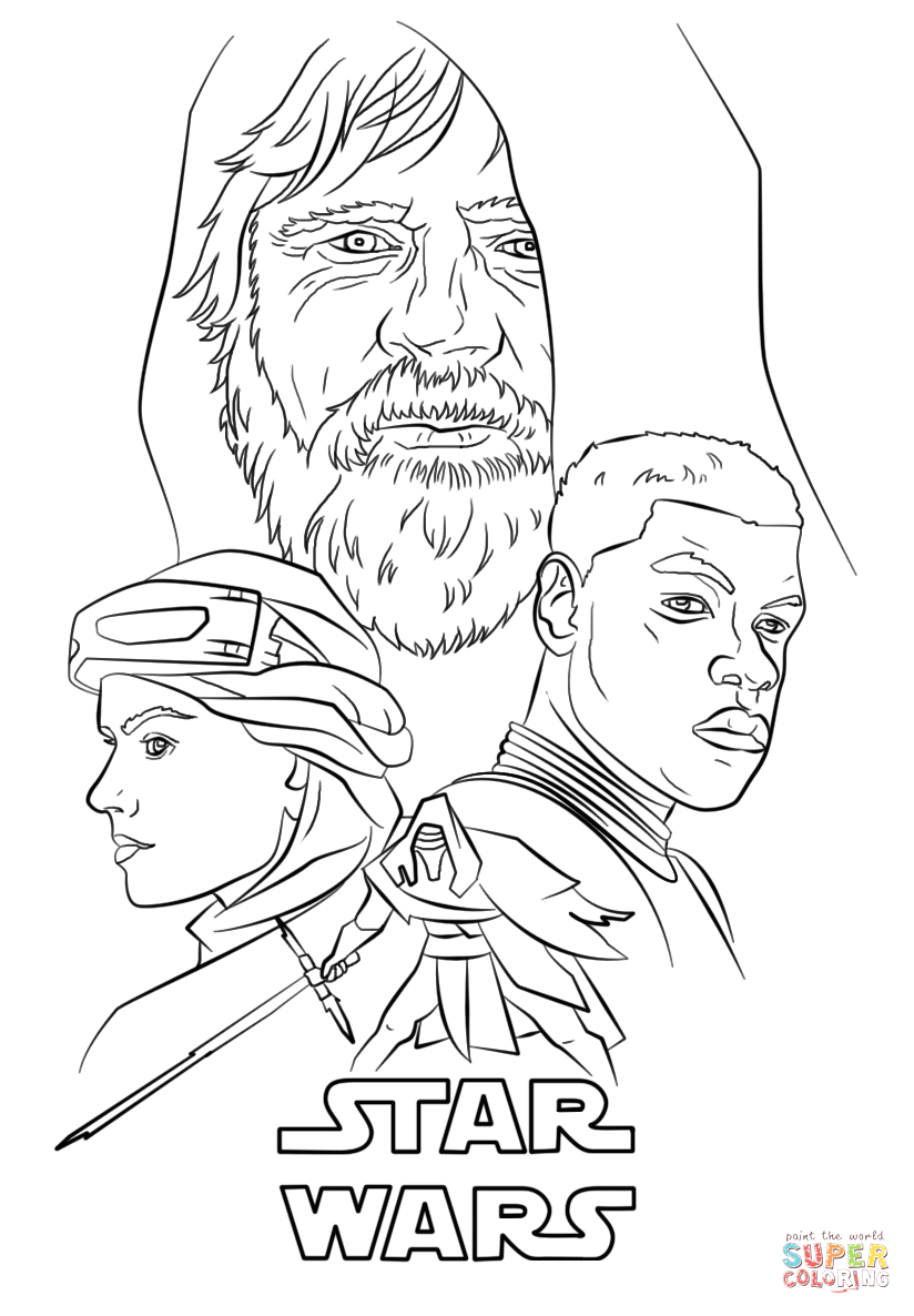 Star Wars the force Awakens Coloring Pages the force Awakens Poster Coloring Page