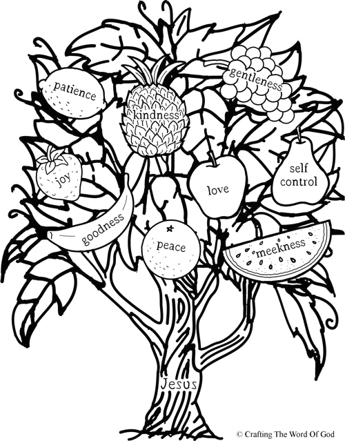 fruit of the spirit jesus is the vine coloring page