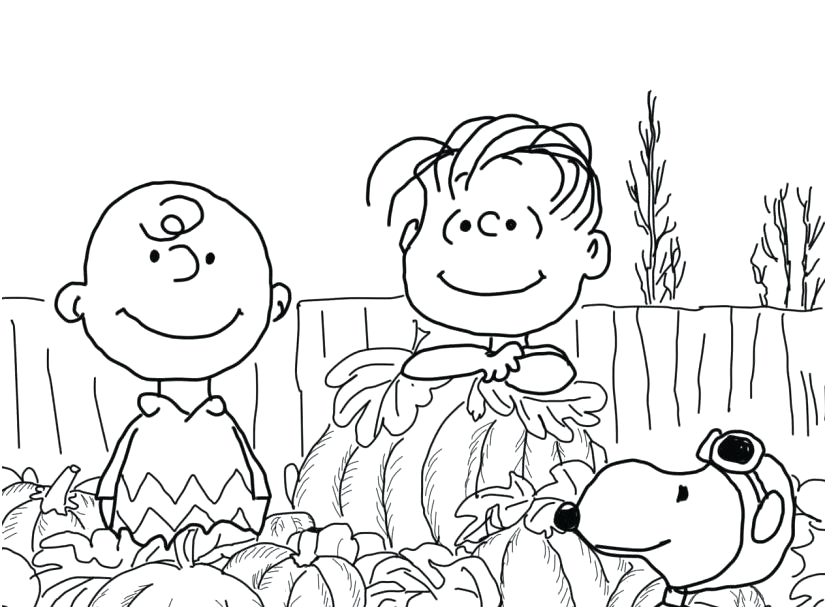 charlie brown great pumpkin coloring pages