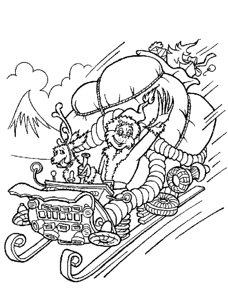 coloring pages printabl dr seuss the grinch who stole christmas