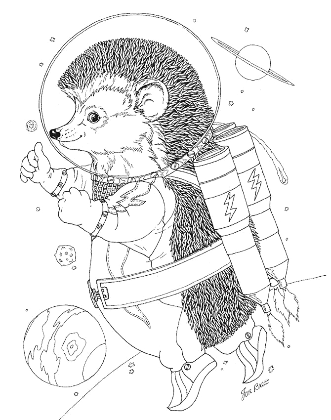jan brett the hat coloring pages