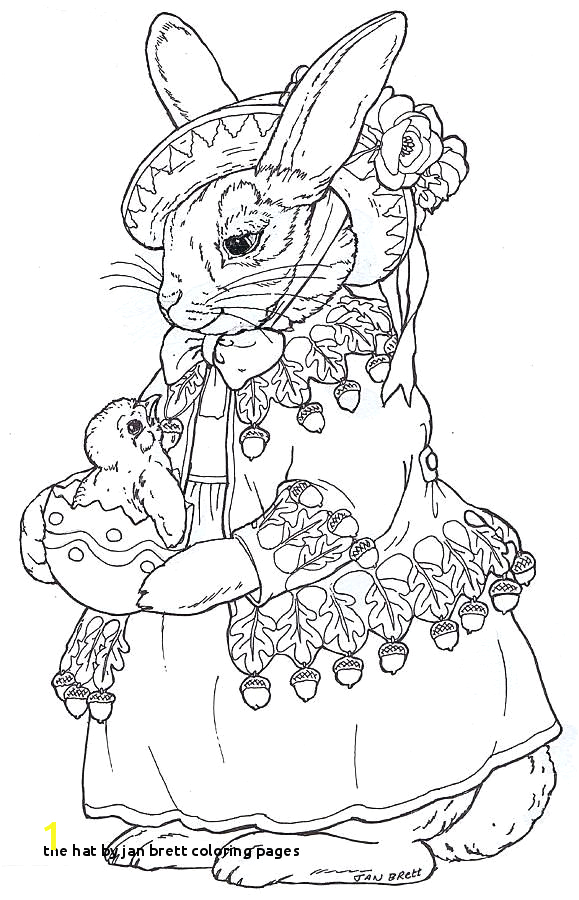 the hat by jan brett coloring pages