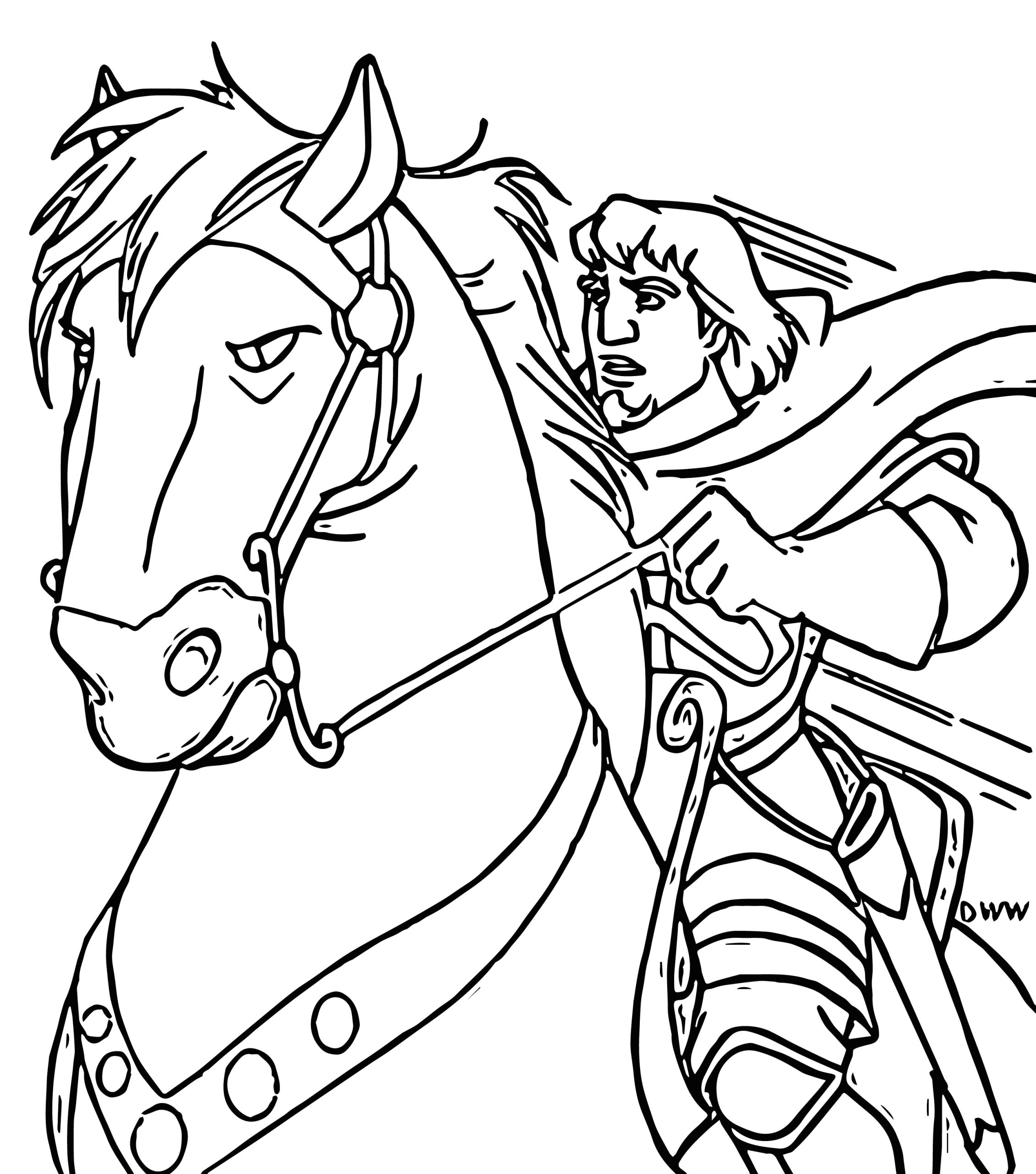 the hunchback of notre dame hbhorse2 cartoon coloring pages