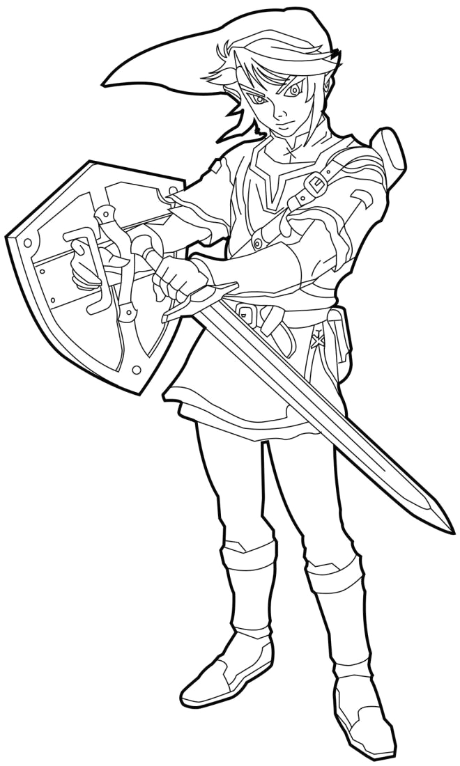 link breath of the wild coloring page