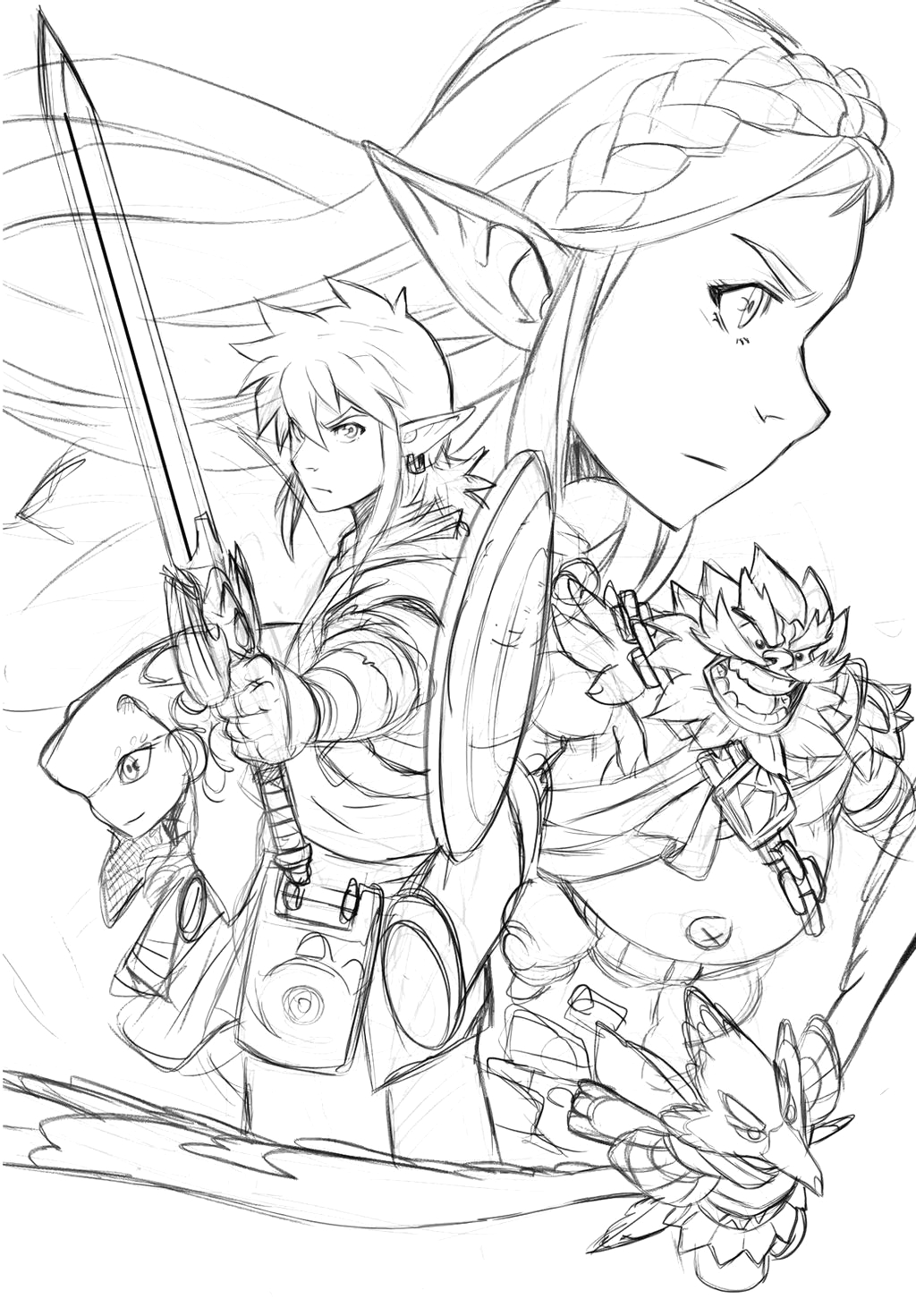 breath of the wild coloring pages