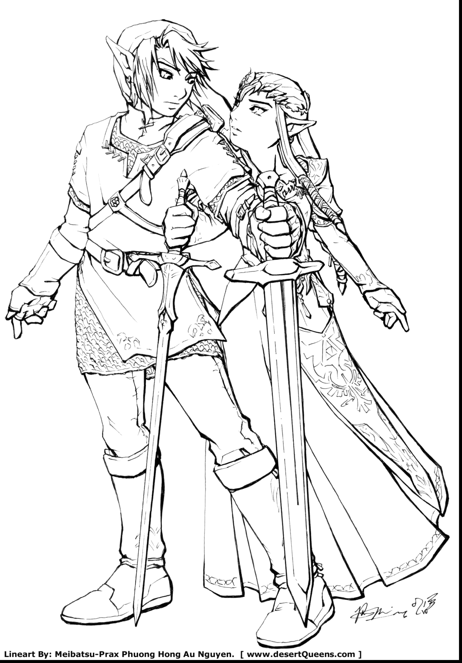 the legend of zelda coloring pages free