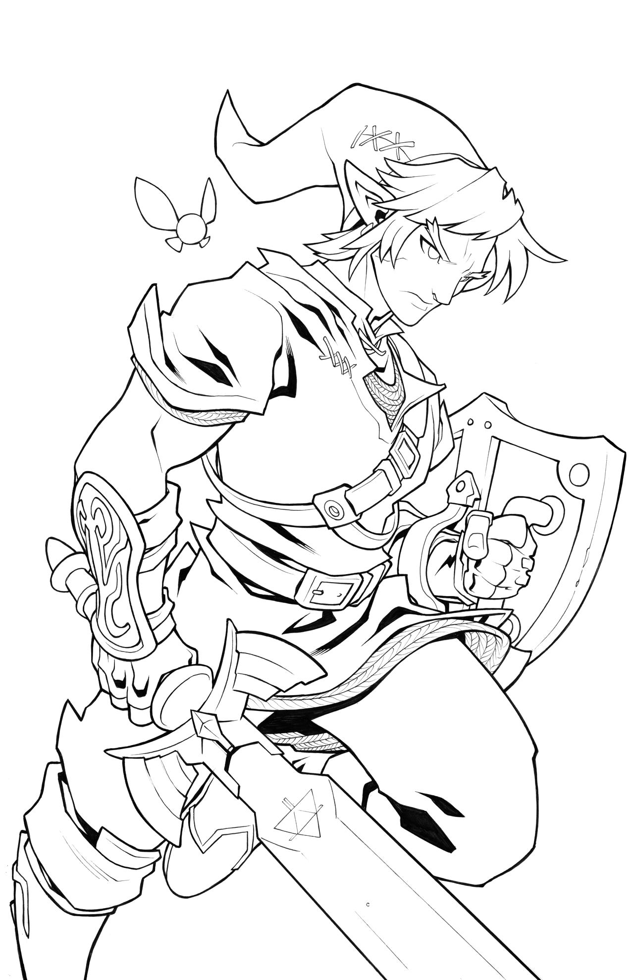 The Legend Of Zelda Breath Of the Wild Coloring Pages Zelda Breath the Wild Pages Coloring Sketch Coloring Page