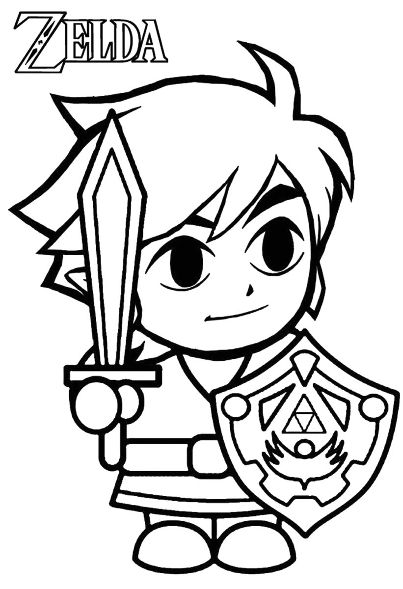 The Legend Of Zelda Coloring Pages Free Free Printable Zelda Coloring Pages for Kids