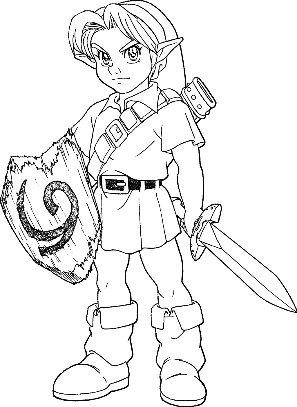 The Legend Of Zelda Ocarina Of Time Coloring Pages Young Link Ocarina Of Time Lineart by Skylight1989 On