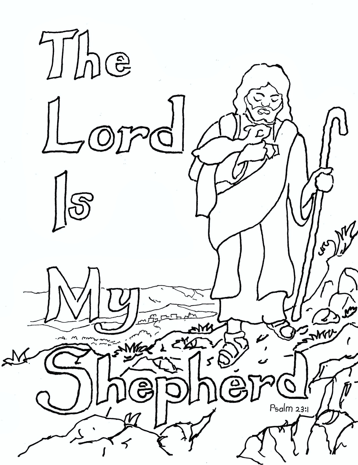 The Lord is My Shepherd Coloring Page Coloring Pages for Kids by Mr Adron the Lord is My