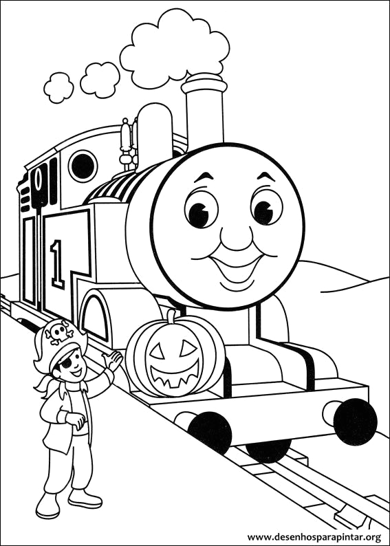 james the red engine coloring pages