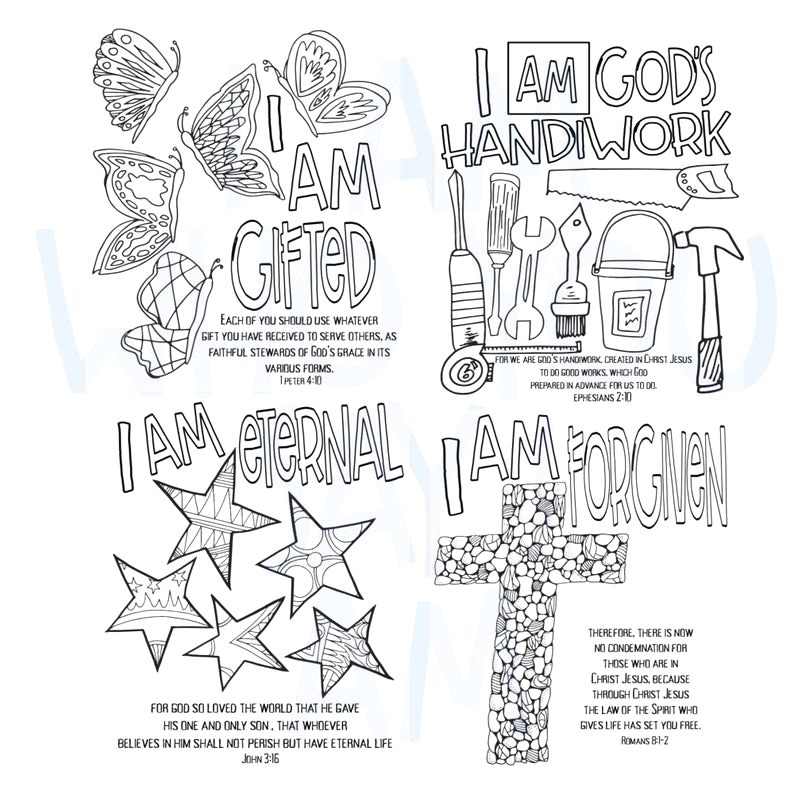 Who Do You Say I Am Coloring Page I Am who You Say I Am Digital Coloring Book