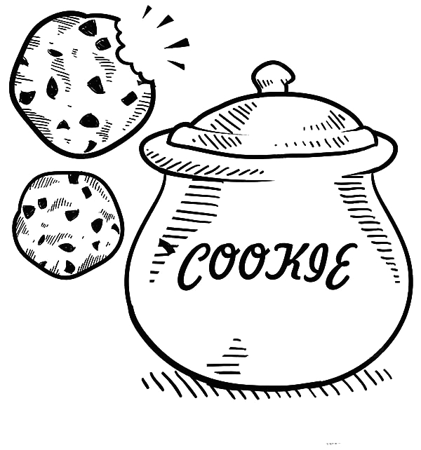 Who Stole the Cookie From the Cookie Jar Coloring Page Cookie Jar Sketch Coloring Pages Coloring Sky