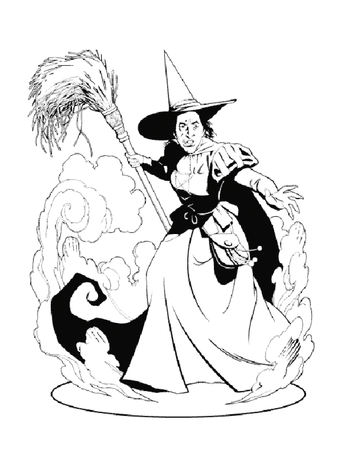 Wicked Witch Of the West Coloring Pages Get This Wicked Witch Of the West From Wizard Oz